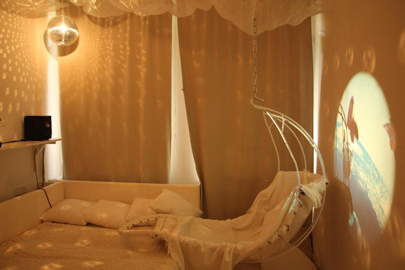 Multisenzorická miestnosť Snoezelen - hojdacie kreslo