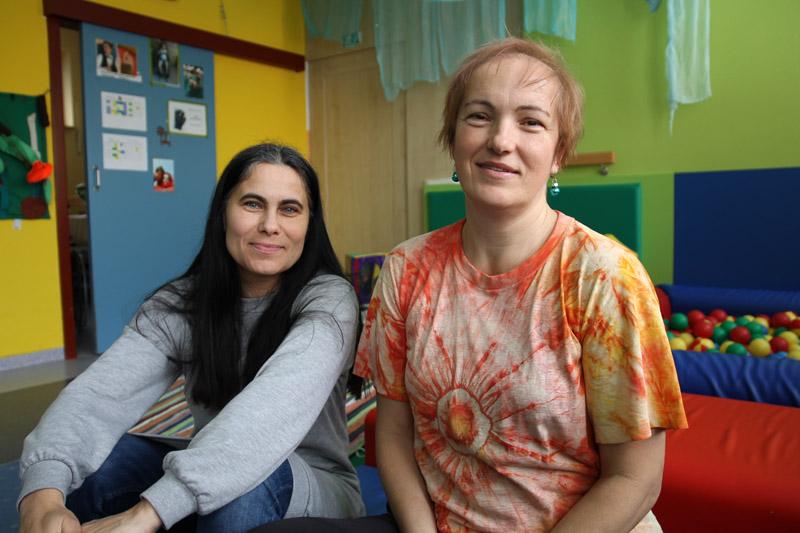Janka Strašilová a Lenka Borošová z DSS Sibírska